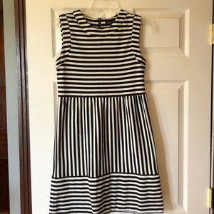 Cute black & white stripped dress!  Sz.S